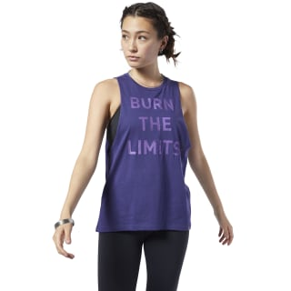 Graphic Series Burn Limits Muscle Tank Top Midnight Ink DY7819