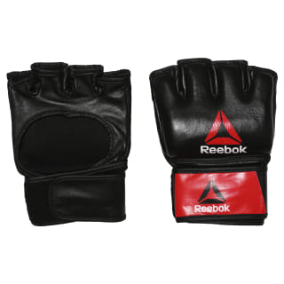 Combat Leather MMA Glove - Large Black / Red BH7250