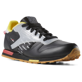 Classic Leather Altered Shoes - Grade School Black / RED / YELLOW / GREY DV5251