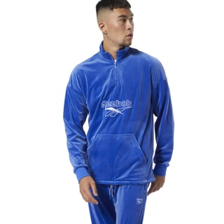 Classics Vector Velour Half-Zip Sweatshirt Crushed Cobalt DT8262