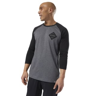 T-shirt à manches raglan GS Reebok Dark Grey Heather DH3760