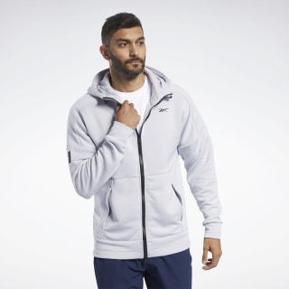 United by Fitness Full-Zip Hoodie Sterling Grey FQ4407