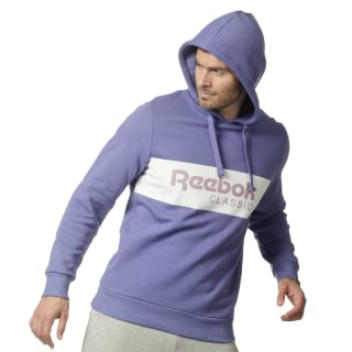 Classics R Unisex 'Over the Head' Hoodie Lilac Shadow / White DX0147