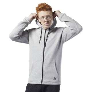 Workout Ready Full-Zip Fleece Hoodie Medium Grey Heather EC0897