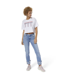 Classics All Over Vector Crop Tee White DZ2422