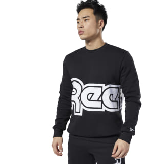 Classics International Red Button Sweatshirt Black EA3597