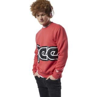 Classics International Red Button Sweatshirt Rebel Red EA3589
