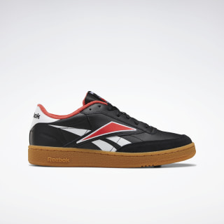 Club C 85 Men's Shoes Black / White / Radiant Red EG6428