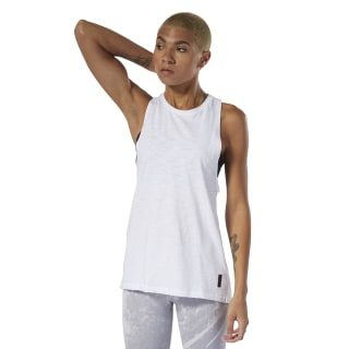 Combat Washed Slub Tank Top White DU4969