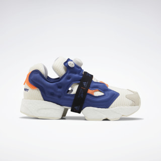 Buty Instapump Fury Boost Classic White / Club Blue / Solar Orange FU9240