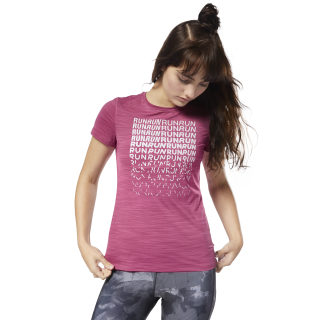 Running ACTIVCHILL Graphic T-Shirt Red CY4623