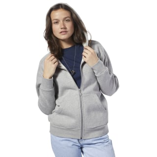 Felpa Fleece Full-Zip Medium Grey Heather / Medium Grey Heather DH1374