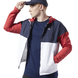Training Essentials Linear Logo Windbreaker Rebel Red FI1936