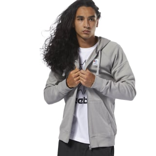 Felpa con cappuccio Classics Advanced Full-Zip Mgh Solid Grey DJ1920