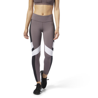 Reebok Lux Leggings - Colour Block Purple / Black D94128