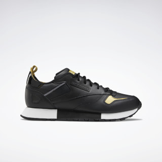 Classic Leather Ree:Dux Shoes Black / White / Gold Metallic FV3203