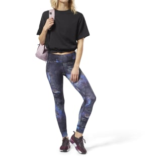 Leggings Lux Bold - Oil Slick BLACK CY3114