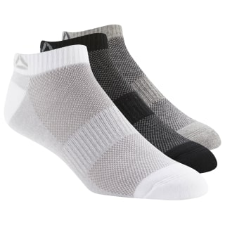 Calcetines tobilleros Active Foundation - Pack de 3 Black / Medium Grey Heather / White DU2988