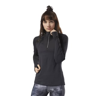 Maglia Running ThermoWarm Touch Quarter-Zip Black CY4621
