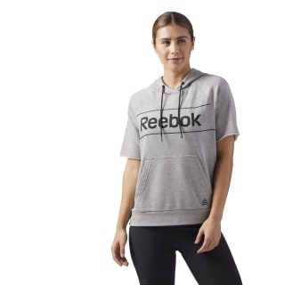 Sweat à capuche et manches courtes Workout Ready Medium Grey Heather CE4501