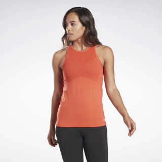 Спортивная майка LES MILLS® Seamless Vivid Orange FM7142