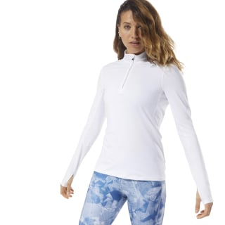 Running Thermowarm Touch Quarter-Zip White D78703