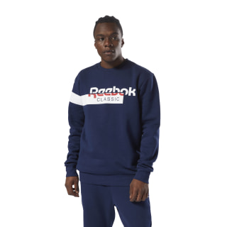 Classics Disruptive Fleece Crewneck Collegiate Navy DH2049