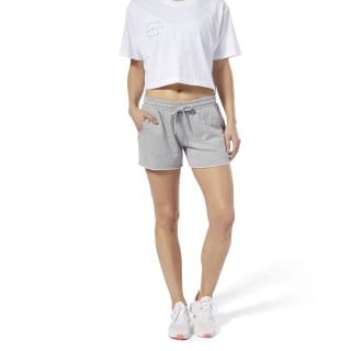 LES MILLS® French Terry Short Medium Grey Heather DV2681