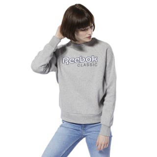 Classics Big Logo Fleece Crew Medium Grey Heather / Collegiate Navy DT7276
