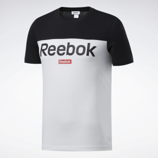 Camiseta Training Essentials Linear Logo Black / White FS1641