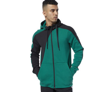 One Series Training Colorblocked Hoodie Clover Green EC0986