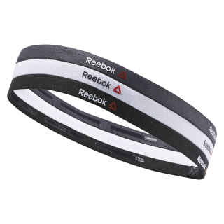 Reebok ONE Series Thin Headbands Black/White/Coal AY0250