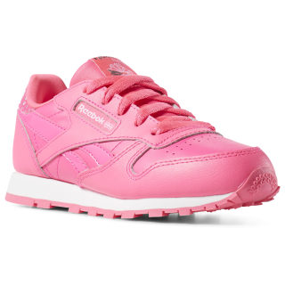 Classic Leather Girl Squad - Pre-School Acid Pink / White CN7341