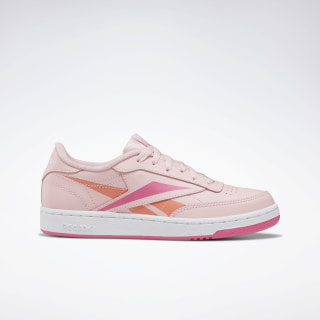 Club C Shoes - Grade School Polished Pink / White / Polished Pink EG0006