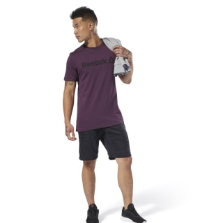 T-shirt avec inscription Reebok Urban Violet DU4702