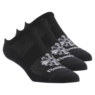 Classics Foundation Invisible Socks 3 Pairs Black CV8485