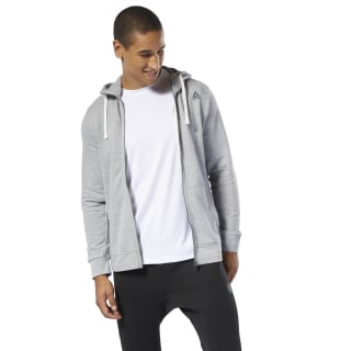 Sweat à capuche zip intégral à effet marbré Group Training Essentials Skull Grey DU8283