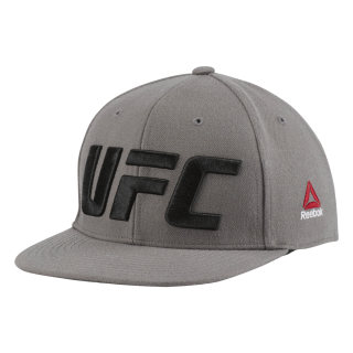 UFC Flat Peak Cap Medium Grey CZ9908