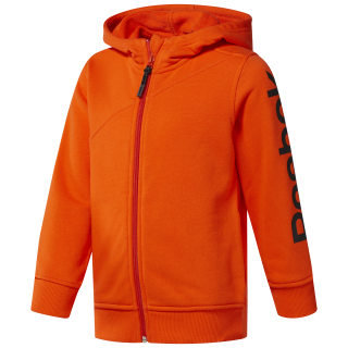 Boys Reebok Full Zip Hoodie Orange/Bright Lava CF4277