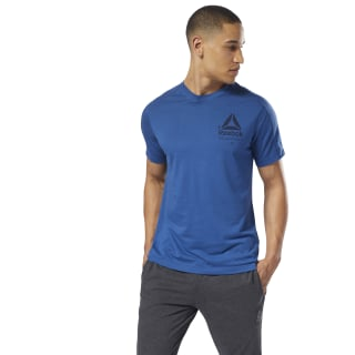 Speedwick Graphic MOVE Tee Bunker Blue DH3326