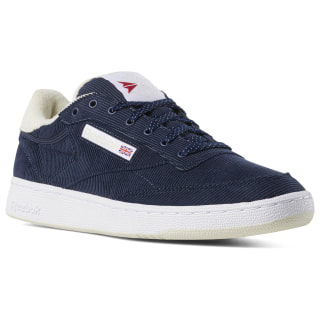 Club C 85 Corduroy Navy / Paperwhite / Red DV7235