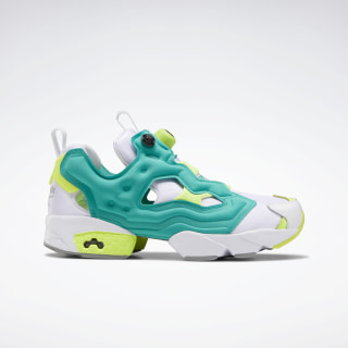 InstaPump Fury Original Shoes White / Emerald / Solar Yellow EH1787