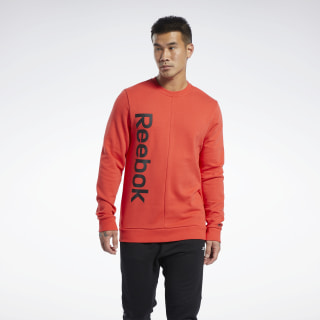 Training Essentials Linear Logo Sweatshirt Radiant Red FK6129