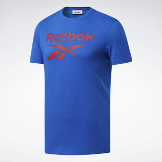 Graphic Series Reebok Stacked Tee Blue Sport FP9149