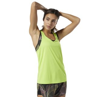 Camiseta sin mangas Running Essentials Neon Lime DU4213