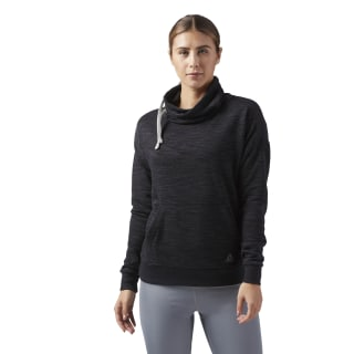 Sudadera de cuello tipo buzo Reebok Training Essentials BLACK CF8644