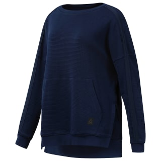 Свитшот Combat Washed Ribbed Crewneck collegiate navy DQ1966