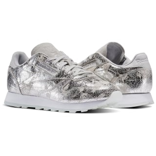 Tênis Classic Leather Hype Metal SILVER MET/SKULL GREY/WHITE BS6785