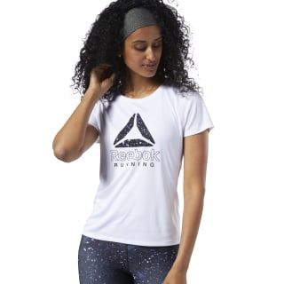 Running Essentials Delta Graphic Tee White DY8264