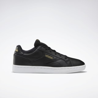 Reebok Royal Complete Clean LX Shoes Black / Gold Met / White DV6627